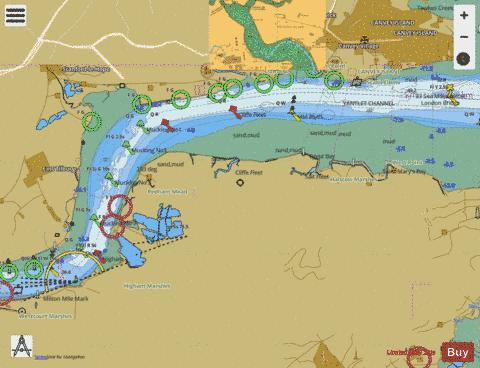 River Thames Canvey Island to Tilbury A Canvey Island to Coalhouse Point Marine Chart - Nautical Charts App