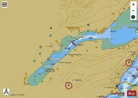 Cromarty Firth  Invergordon to Dingwall Marine Chart - Nautical Charts App