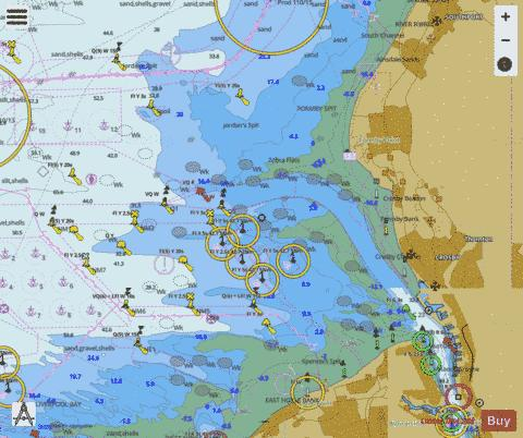 Approaches to Liverpool Marine Chart - Nautical Charts App