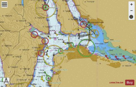 Approaches to the River Clyde Marine Chart - Nautical Charts App