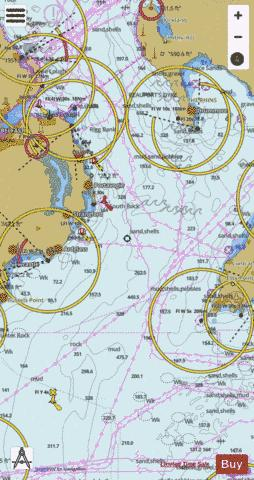 Southern Approach to North Channel Marine Chart - Nautical Charts App