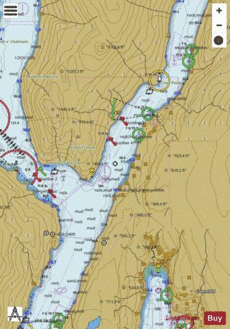 B Approaches to Finnart Marine Chart - Nautical Charts App