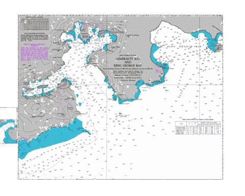 Admiralty Bay and King George Bay Marine Chart - Nautical Charts App