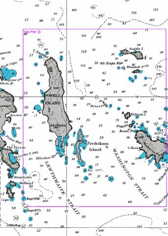 Powell Island and Washington Strait Marine Chart - Nautical Charts App