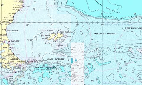 Approaches to the Falkland Islands Marine Chart - Nautical Charts App