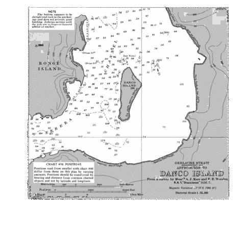 Approaches to Danco Island Marine Chart - Nautical Charts App