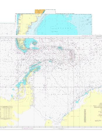 Carta H-5011 Oceano Atlantico Sudoccidental Marine Chart - Nautical Charts App