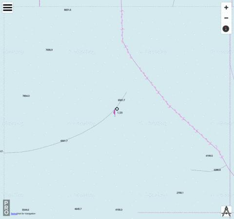 Indian Ocean - Cell 8 Marine Chart - Nautical Charts App