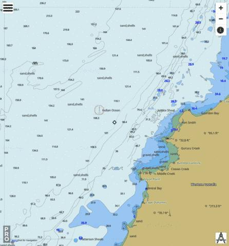 Western Australia - Cape Gourdon to Cape Jaubert Marine Chart - Nautical Charts App