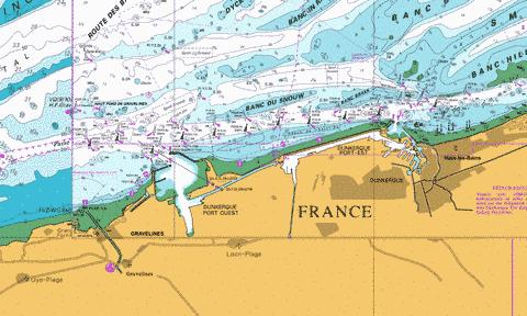 Dunkerque and Approaches Marine Chart - Nautical Charts App