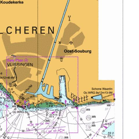 A Vlissingen Marine Chart - Nautical Charts App