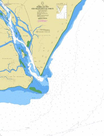 BARRA DO RIO SAO FRANCISCO DO NORTE Marine Chart - Nautical Charts App
