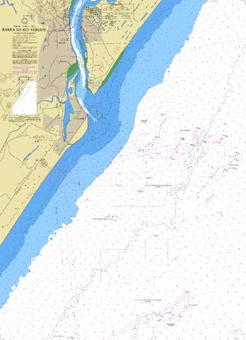 BARRA DO RIO SERGIPE Marine Chart - Nautical Charts App