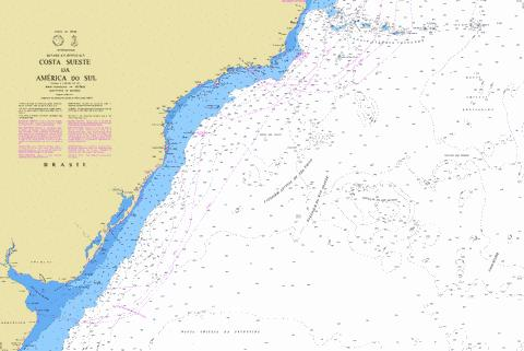 COSTA SUESTE DA AMERICA DO SUL Marine Chart - Nautical Charts App