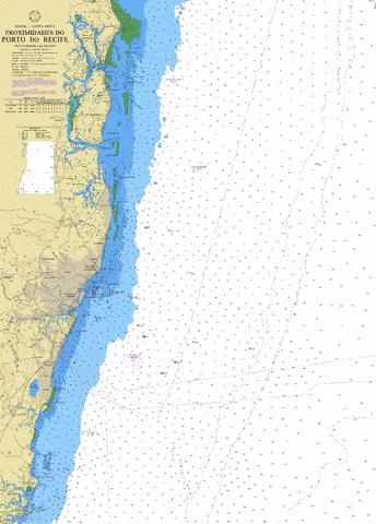 PROXIMIDADES DO PORTO DO RECIFE Marine Chart - Nautical Charts App