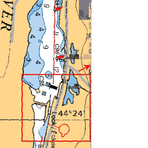 SAWER CREEK LOCK/ÉCLUSE 25 Marine Chart - Nautical Charts App
