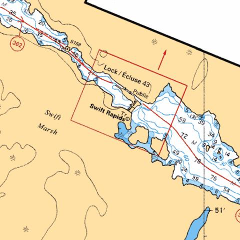SWIFT RAPIDS LOCK / �CLUSE 43 Marine Chart - Nautical Charts App