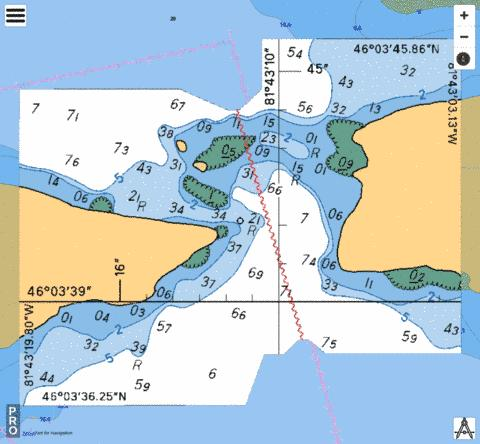 INSET/CARTOUCHE A Marine Chart - Nautical Charts App