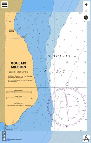 GOULAIS MISSION Marine Chart - Nautical Charts App