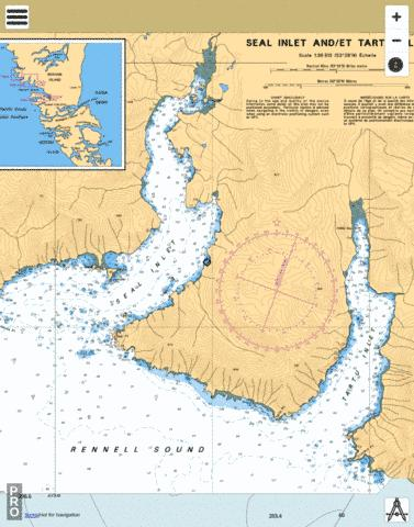 SEAL INLET AND/ET TARTU INLET Marine Chart - Nautical Charts App