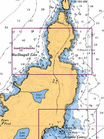 MACDOUGALL COVE AND/ET POWERS COVE Marine Chart - Nautical Charts App
