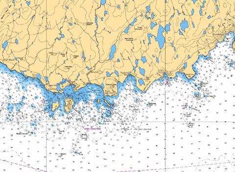 GREAT ST. LAWRENCE HARBOUR AND/ET LAMALINE HARBOUR (LAMALINE HARBOUR) Marine Chart - Nautical Charts App