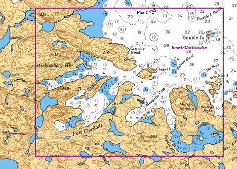 PORT CHARLOTTE MECKLENBERG HARBOUR AND/ET SOPHIA HARBOUR Marine Chart - Nautical Charts App