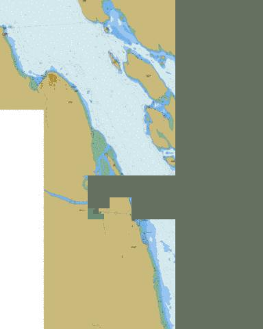 Approaches to\Approches a Campbell River Marine Chart - Nautical Charts App