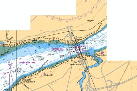 Port de Quebec - Continuation A Marine Chart - Nautical Charts App