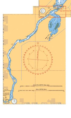 CONTINUATION D-E PINAWA CHANNEL Marine Chart - Nautical Charts App