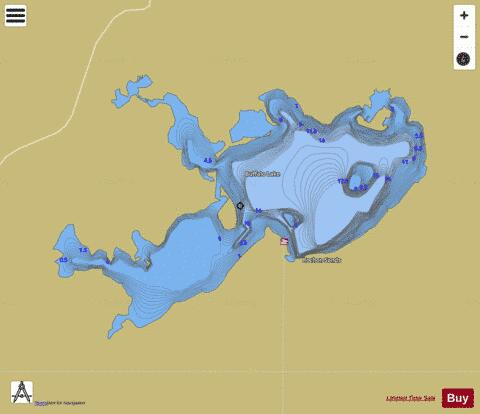 Buffalo Lake Fishing Map - i-Boating App
