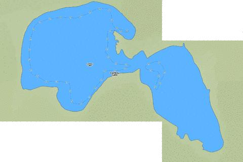 Caribou Lake Fishing Map - i-Boating App