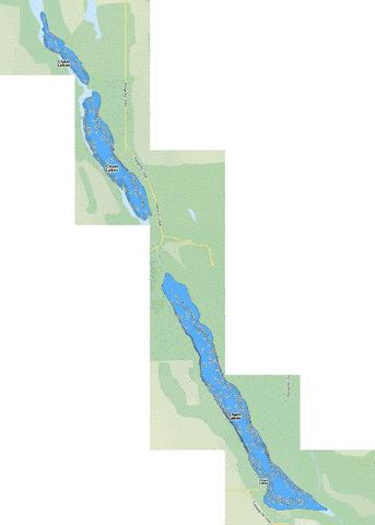 Chain Lakes Fishing Map - i-Boating App