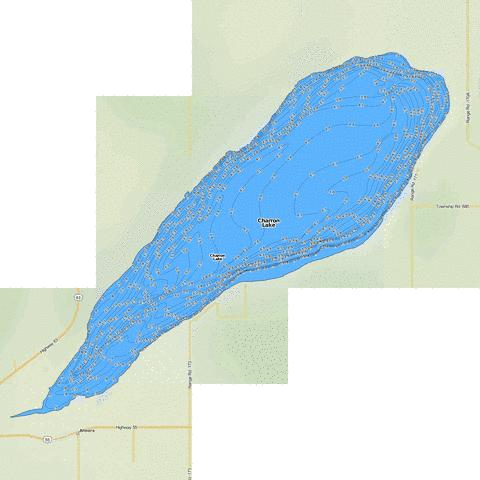Charron Lake Fishing Map - i-Boating App