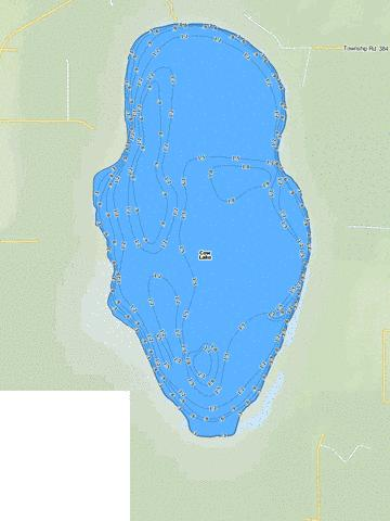 Cow Lake Fishing Map - i-Boating App