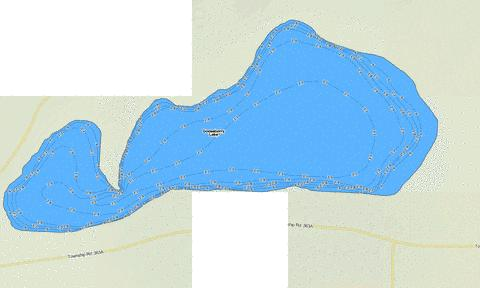 Gooseberry Lake Fishing Map - i-Boating App