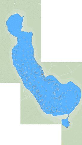 Iosegun Lake Fishing Map - i-Boating App