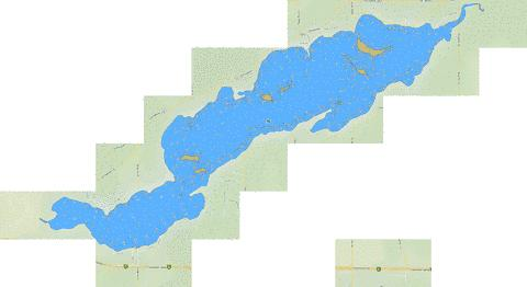 Isle Lake Fishing Map - i-Boating App