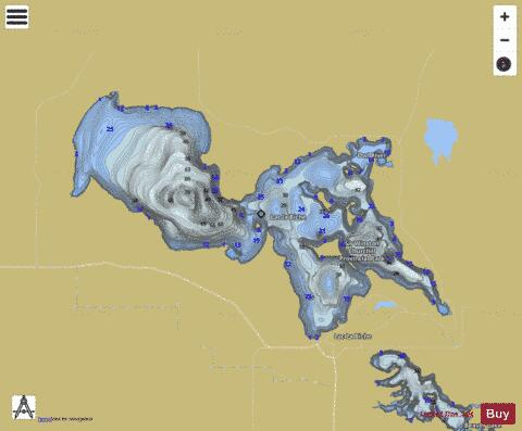 Lac la Biche Fishing Map - i-Boating App