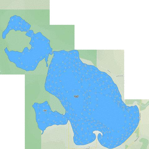 Laurier Lake Fishing Map - i-Boating App