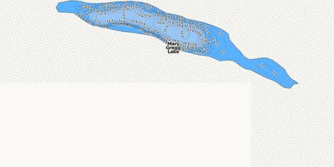 Mary Gregg Lake Fishing Map - i-Boating App