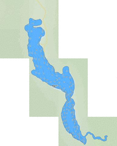 Medicine Lake Fishing Map - i-Boating App