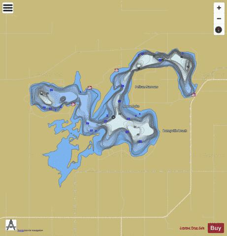 Moose Lake Fishing Map - i-Boating App