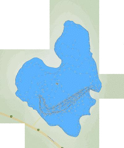 Obed Lake Fishing Map - i-Boating App