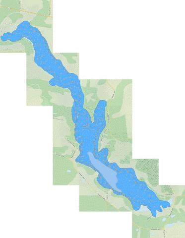 Pine Lake Fishing Map - i-Boating App