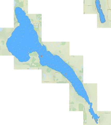 Red Deer Lake Fishing Map - i-Boating App