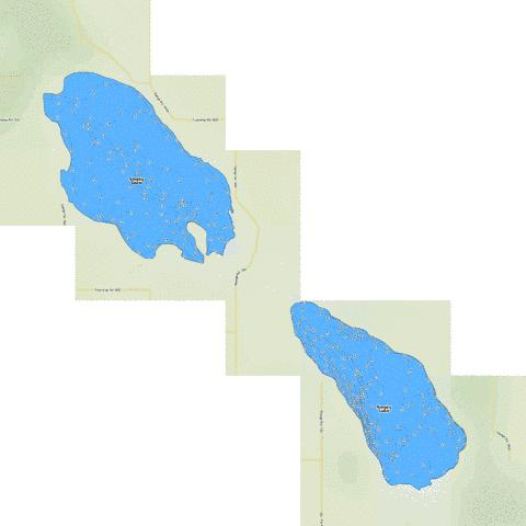 Smoky Lake Fishing Map - i-Boating App