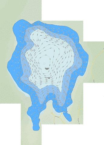 Square Lake Fishing Map - i-Boating App