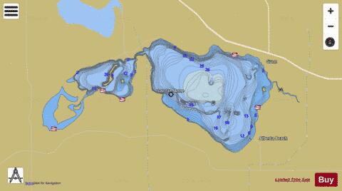 Lac Ste. Anne Fishing Map - i-Boating App