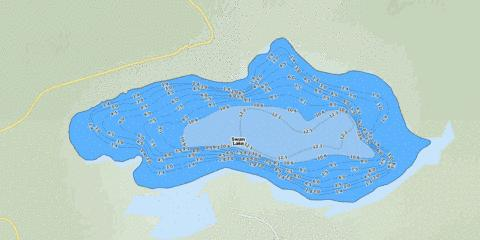 Swan Lake Fishing Map - i-Boating App